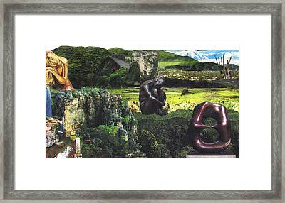 'mountains' Collage Framed Print