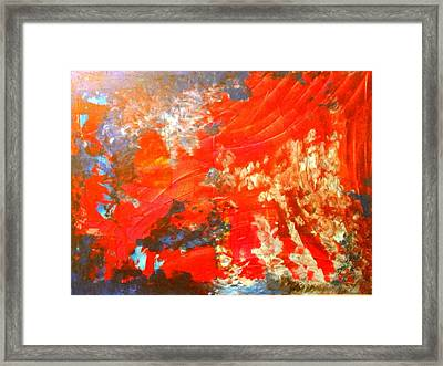 Mountains Fall Into The Raging Seas Framed Print