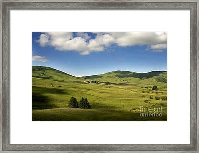 Mountains Of Cezallier. Auvergne. France. Europe Framed Print by Bernard Jaubert