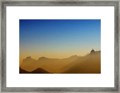 Mountains Of Rio De Janeiro Framed Print by Antonello