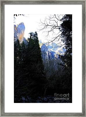 Mountains Of Yosemite . 7d6214 Framed Print by Wingsdomain Art and Photography