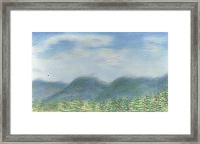 Framed Print featuring the pastel Mountains Over Lennox by Denny Morreale