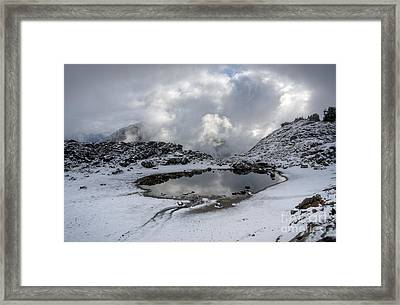 Mountaintop Contradiction Framed Print by Idaho Scenic Images Linda Lantzy