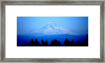 Mountian Blues Framed Print