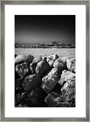 Mourne Granite Irish Dry Stone Wall Ireland Framed Print by Joe Fox