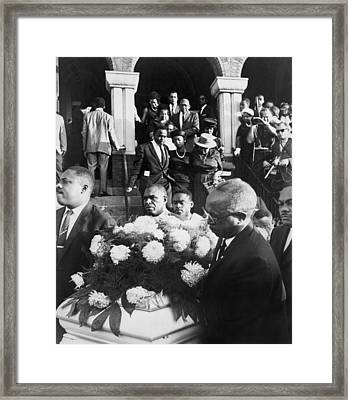 Mourning Family Of One Of The Four Framed Print by Everett