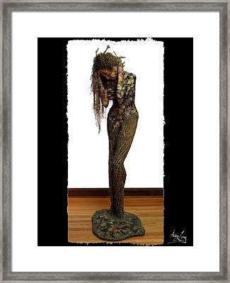 Mourning Moss Greeting Card Image Framed Print