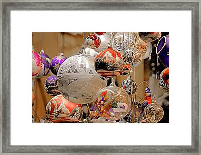 Mouth-blown Hand Painted Christmas Ornaments Framed Print by Christine Till