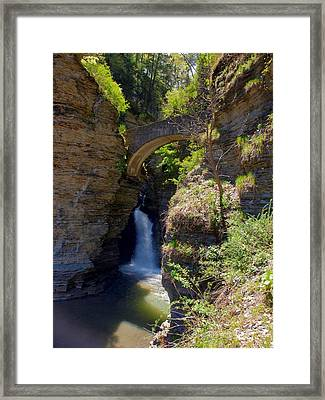 Mouth Of The Glen Watkins Glen State Prk Framed Print by Joshua House