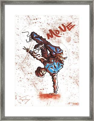 Move B-boy Framed Print by Tuan HollaBack