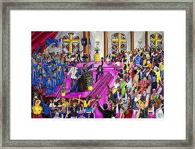 ''moved By The Word'' Framed Print by Mccormick  Arts
