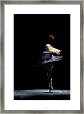 Framed Print featuring the photograph Moved Dance. by Raffaella Lunelli