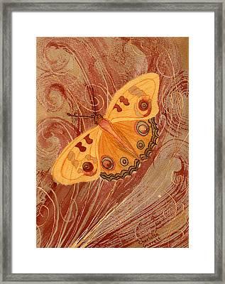 Movement Butterfly Framed Print by Charlotte Garrett