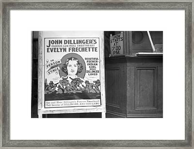 Movie Theatre In Hillsboro Framed Print