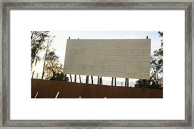 Movies And Popcorn Framed Print by Nicholas Evans