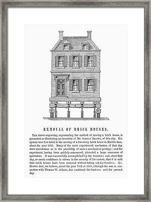 Moving A Brick House, 1823 Framed Print by Granger