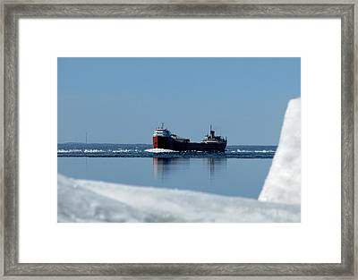 Moving Through The Straits Framed Print by Keith Stokes