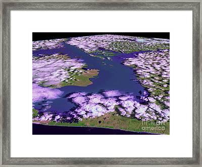 Mozambique Flood Image 2 Of 2 Framed Print by NASA / Goddard Space Flight Center
