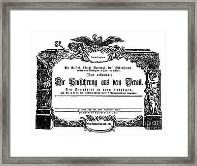 Mozart: Seraglio, 1782 Framed Print by Granger