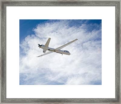 Mq-9 Reaper Spyplane Framed Print