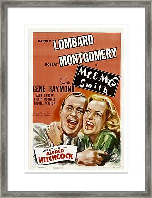 Mr. And Mrs. Smith, Robert Montgomery Framed Print by Everett