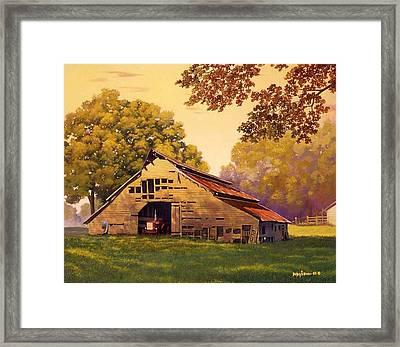 Mr. D's Barn Framed Print
