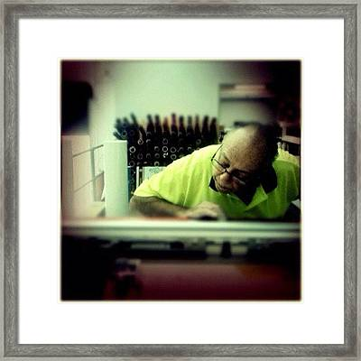 Mr Fuda Still Working At 72. Italians Framed Print