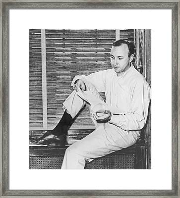 Mr. Neil Simon B. 1927 American Framed Print by Everett