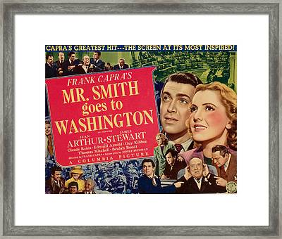 Mr. Smith Goes To Washington, James Framed Print by Everett