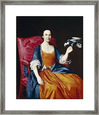 Mrs. Benjamin Hallowell Framed Print by John Singleton Copley