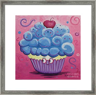 Mrs. Blue Cupcake Framed Print by Jennifer Alvarez