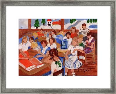 Mrs. Chamberlain's Fifth Grade In Canajoharie Framed Print