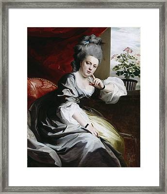 Mrs Clark Gayton Framed Print by John Singleton Copley