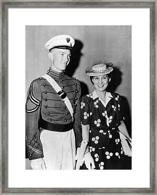 Mrs. Dwight D. Eisenhower Smiles Framed Print by Everett