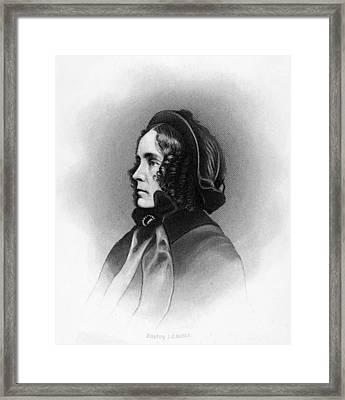 Mrs. Franklin Pierce, Engraved By Jc Framed Print by Everett