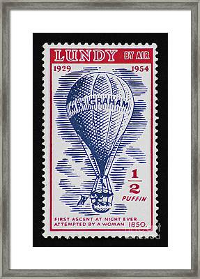 Framed Print featuring the photograph Mrs Graham The Balloonist by Andy Prendy