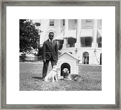 Mrs. Hardings Dogs Oboy & Laddie Boy Framed Print