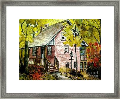 Framed Print featuring the painting Mrs. Henry's Home 2 by Gretchen Allen