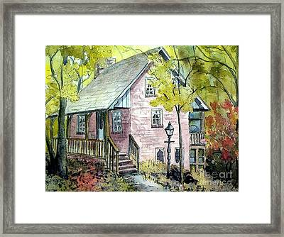 Framed Print featuring the painting Mrs. Henry's Home by Gretchen Allen