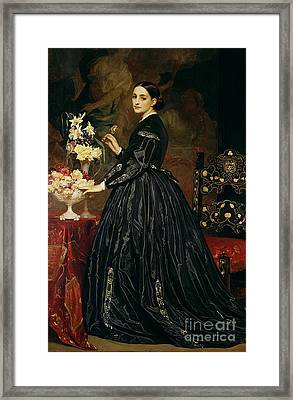 Mrs James Guthrie Framed Print by Frederic Leighton