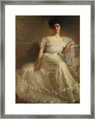 Mrs. Leslie Thayer Green Framed Print by John Willard Clawson