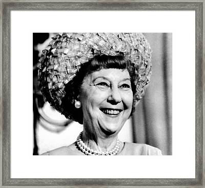 Mrs. Mamie Eisenhower, Widow Framed Print by Everett