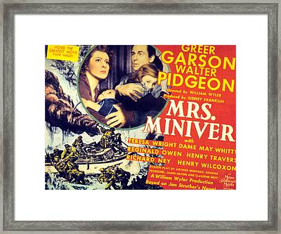 Mrs. Miniver, Greer Garson, Clare Framed Print by Everett