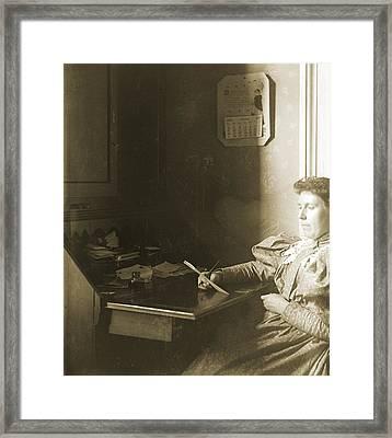 Mrs W - April 1885 Framed Print by Jan W Faul