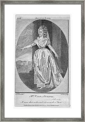 Mrs. Ward (1777-1794) Framed Print by Granger