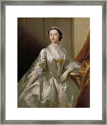 Mrs Wardle Framed Print by Thomas Frye