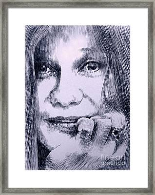 Ms. Joplin Framed Print by Robbi  Musser