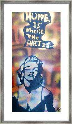 Ms.monroe Framed Print by Tony B Conscious