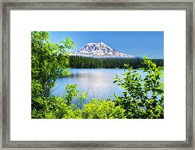 Mt Adams And Takhlakh Lake Framed Print by Ansel Price