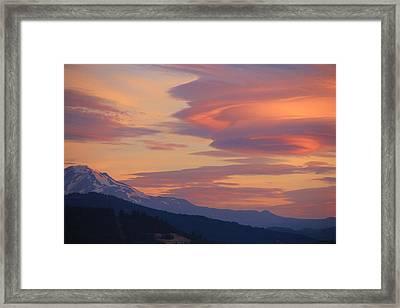 Mt Adams Morning Framed Print by Dan Madden